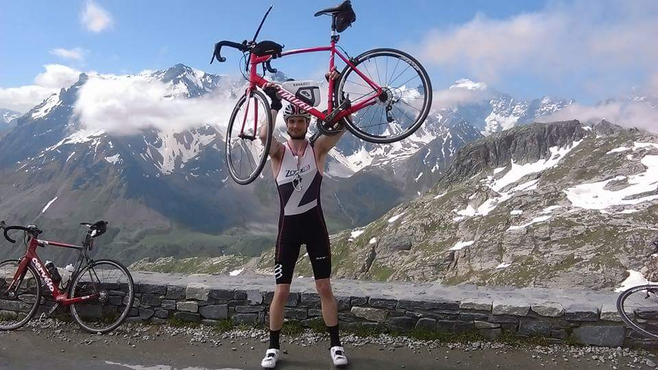 Rob at the summit of Col du Galibier,2016
